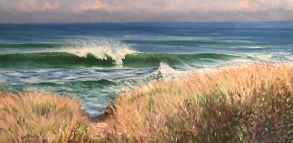 Cape Cod Surf, oil on canvas 24x48