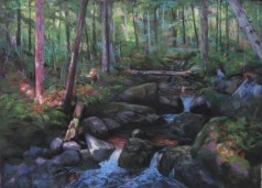 Dappled Light Crystal Brook, pastel 18x24