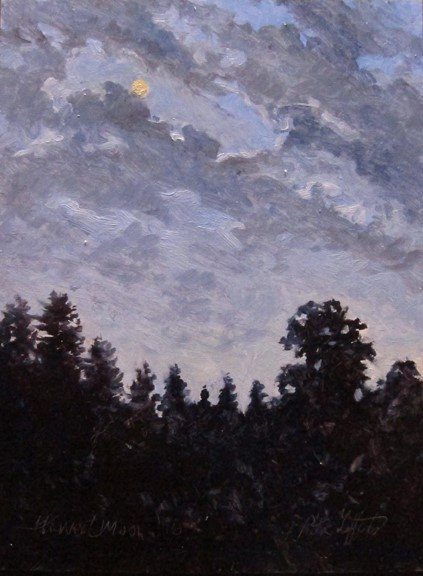 Harvest Moon, oil on canvas 12x9