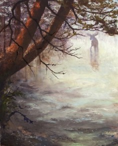 Mong Soa in the Mist, oil on panel 36x24