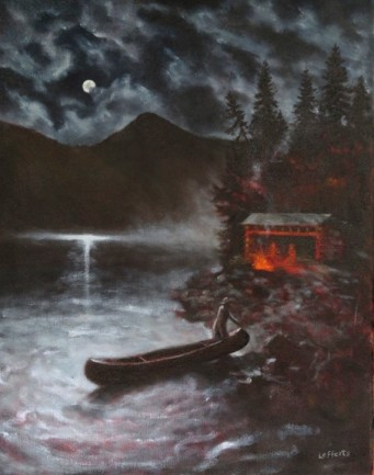 Moonlight Idyll, oil on canvas 16x20