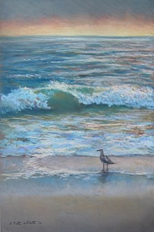 Morning at Nauset Beach, pastel 18x12