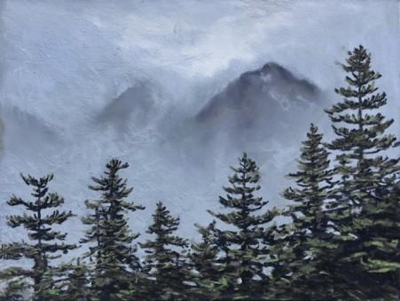 Mountain Mist, paster 9x12