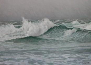 Storm Surf, pastel 18x24