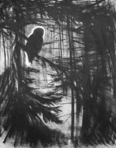 That Which Needs No Name (Whispers in my Ear) charcoal on paper 24x18
