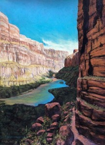 The Granary Trail, pastel 24x18