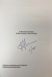 The Man Who Turned Stuff Off Interior Cover Signed